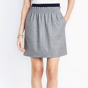 J Crew Wool Blend Grey Skirt with Pockets Sz 00